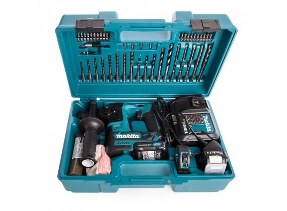 Akumulatorska bušilica čekić + SET PRIBORA SDS Plus HR166DWAE1