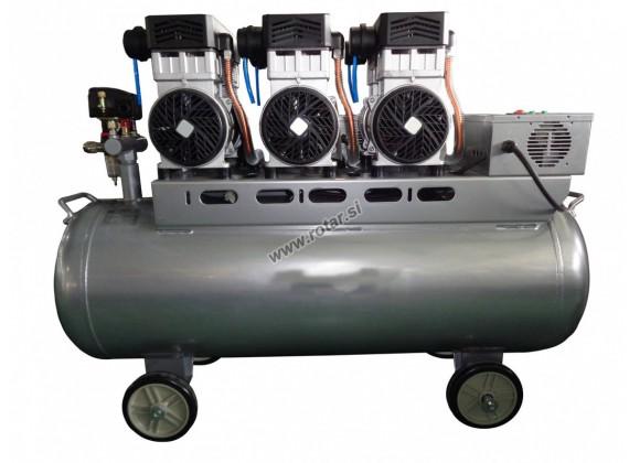 Tihi bezuljni klipni kompresor za zrak DPS 3,3/140 140L