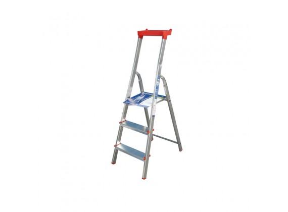 Aluminijske kućne ljestve sa postoljem za alat 32-03 3 stepenice
