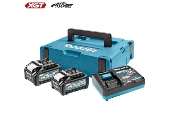 XGT baterijski set (4.0 Ah) DC40RA, BL4040x2, MAKPAC 1 191J97-1