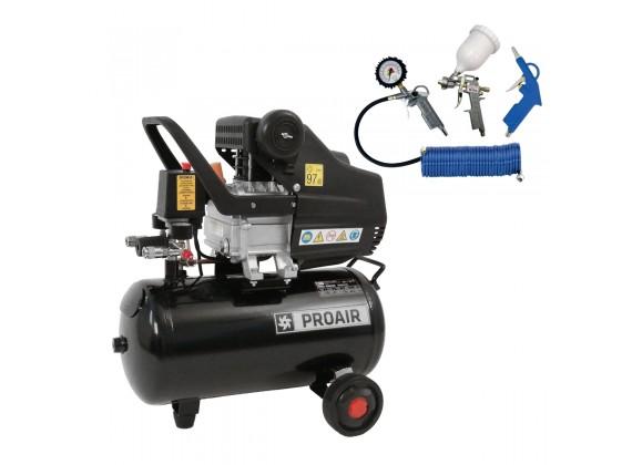 Klipni kompresor za zrak SBN-BM1042/24L BLACK LINE 24L sa 4-dijelnim pneumatskim setom *