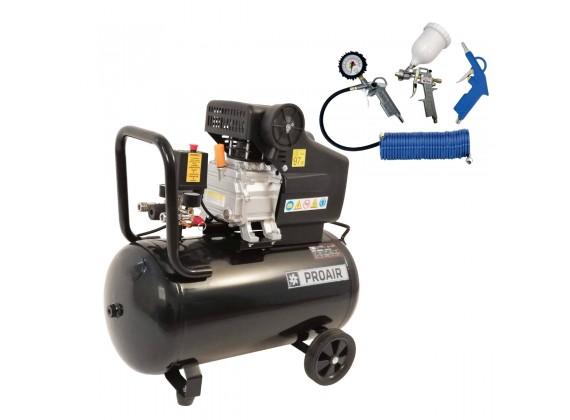Klipni kompresor za zrak SBN-BM1047/50L BLACK LINE 50L sa 4-dijelnim setom pneumatskog pribora *