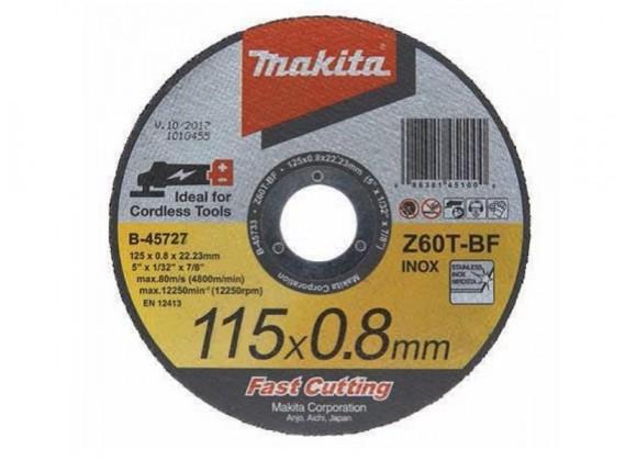 Rezna ploča 115 x 0,8 tanka ravna INOX B-45727