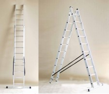 Aluminijska dvodijelna višenamjenska ljestva 40 - 2x7 stepenica