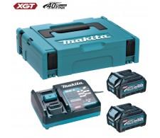 XGT baterijski set (2.5 Ah) DC40RA, BL4025x2, MAKPAC 1 191J81-6