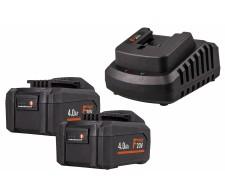 Set 2x baterija 4Ah i brzi punjač FERMPOW4x2