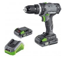 LUX akumulatorska bušilica/odvijač 1 PowerSystem 20 V sa dvije baterijom i punjačem