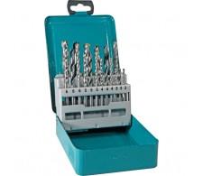 18-dijelni set burgija za metal, drvo i ciglu u metalnoj kutiji